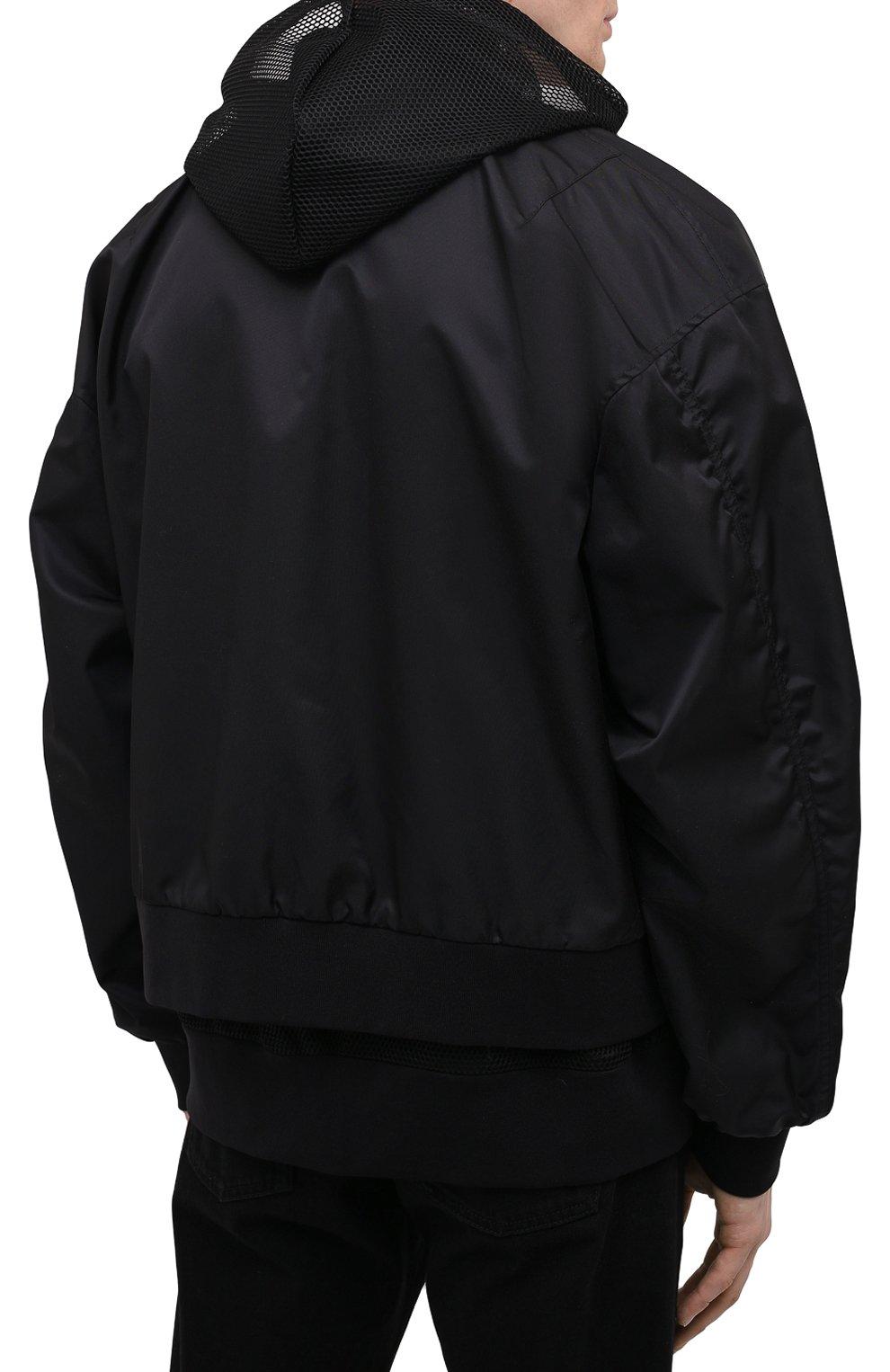 Мужской бомбер DOLCE & GABBANA черного цвета, арт. G9UJ2T/FUMNQ | Фото 4