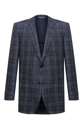 Мужской пиджак из шерсти и шелка CANALI темно-синего цвета, арт. 23288/CF00447/116/60-64   Фото 1