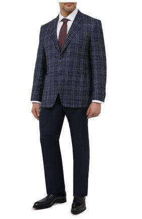 Мужской пиджак из шерсти и шелка CANALI темно-синего цвета, арт. 23288/CF00447/116/60-64   Фото 2