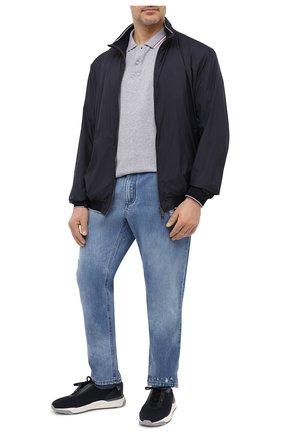 Мужское хлопковое поло PAUL&SHARK серого цвета, арт. 21411288/C00/3XL-6XL   Фото 2