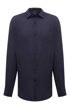 Мужская льняная рубашка PAUL&SHARK темно-синего цвета, арт. 21413220/F7E | Фото 1