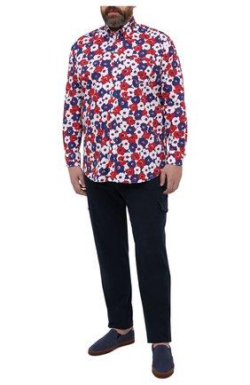 Мужская хлопковая рубашка PAUL&SHARK разноцветного цвета, арт. 21413448/C00 | Фото 2