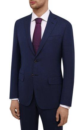 Мужской шерстяной костюм LUCIANO BARBERA темно-синего цвета, арт. 5M2014/25030 | Фото 2
