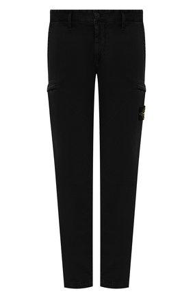 Мужские хлопковые брюки-карго STONE ISLAND черного цвета, арт. 741532104 | Фото 1