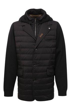 Мужская пуховая куртка massimo-s3z MOORER черного цвета, арт. MASSIM0-S3Z/M0UGI100041-TEPA069   Фото 1