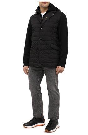 Мужская пуховая куртка massimo-s3z MOORER черного цвета, арт. MASSIM0-S3Z/M0UGI100041-TEPA069   Фото 2