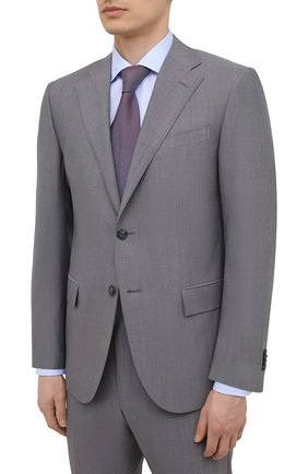 Мужской шерстяной костюм CORNELIANI светло-серого цвета, арт. 877268-1118414/92 Q1 | Фото 2