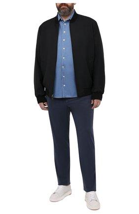 Мужская джинсовая рубашка GIORGIO ARMANI голубого цвета, арт. 3KSC62/SD0VZ   Фото 2