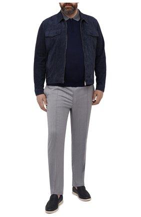 Мужское хлопковое поло LUCIANO BARBERA темно-синего цвета, арт. 109G03/53341/58-62   Фото 2