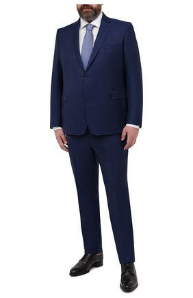 Мужской шерстяной костюм EDUARD DRESSLER темно-синего цвета, арт. N282/10001 | Фото 1