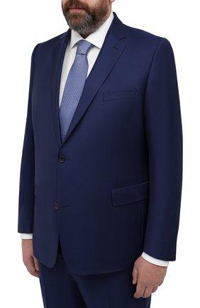 Мужской шерстяной костюм EDUARD DRESSLER темно-синего цвета, арт. N282/10001 | Фото 2