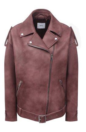 Женская кожаная куртка BATS темно-розового цвета, арт. FW20/S_020 | Фото 1