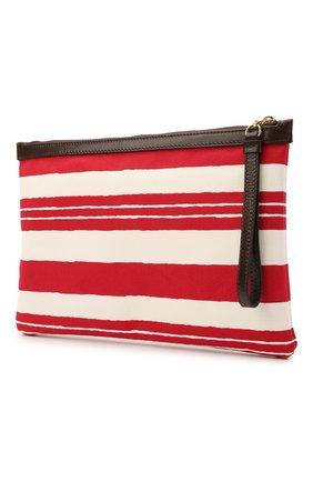 Женская текстильная косметичка DOLCE & GABBANA красного цвета, арт. BI1184/B9M51   Фото 2