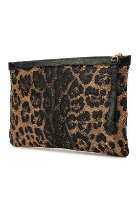 Женская текстильная косметичка DOLCE & GABBANA леопардового цвета, арт. BI1184/AX383   Фото 2