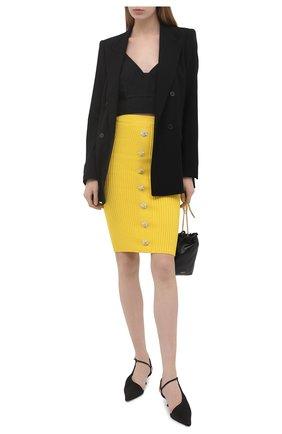 Женская хлопковая юбка GIUSEPPE DI MORABITO желтого цвета, арт. SS21074KN-79 | Фото 2
