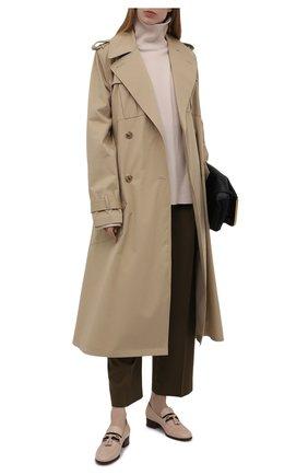 Женские кожаные лоферы paride GUCCI бежевого цвета, арт. 624316/1W610   Фото 2