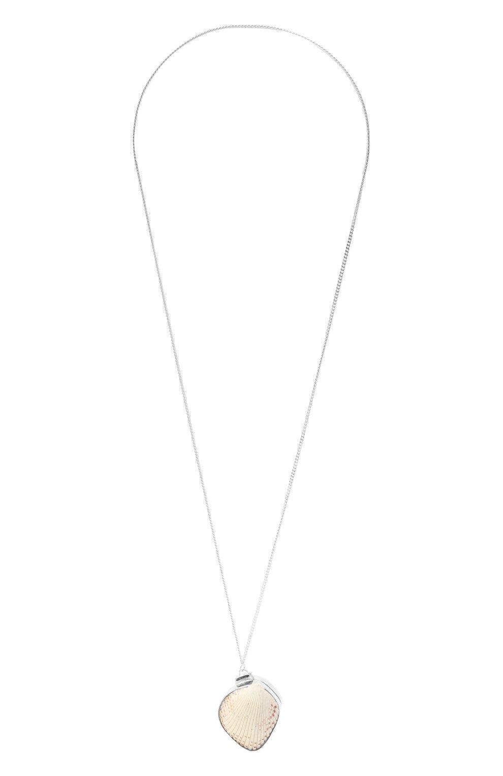 Женское кулон на цепочке JIL SANDER серебряного цвета, арт. JSPS840150/WSS85002X | Фото 1