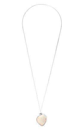 Женская кулон на цепочке JIL SANDER серебряного цвета, арт. JSPS840150/WSS85002X | Фото 1 (Материал: Металл)