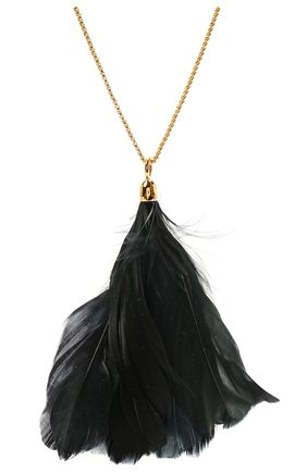 Женская кулон на цепочке JIL SANDER черного цвета, арт. JSWS831135/WSS80053 | Фото 2 (Материал: Металл)