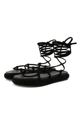 Женские замшевые сандалии alba KHAITE черного цвета, арт. F4016-726/ALBA | Фото 1
