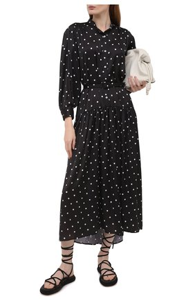Женские замшевые сандалии alba KHAITE черного цвета, арт. F4016-726/ALBA | Фото 2