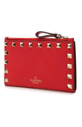 Женский кожаный футляр для кредитных карт rockstud VALENTINO красного цвета, арт. VW0P0605/VSH   Фото 2