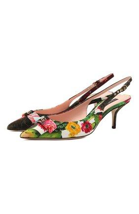 Женские текстильные туфли cardinale DOLCE & GABBANA разноцветного цвета, арт. CG0464/A0654   Фото 1