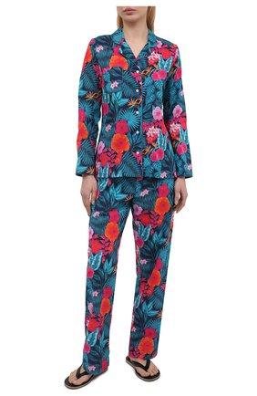 Женская хлопковая пижама DEREK ROSE разноцветного цвета, арт. 2029-LEDB044 | Фото 1
