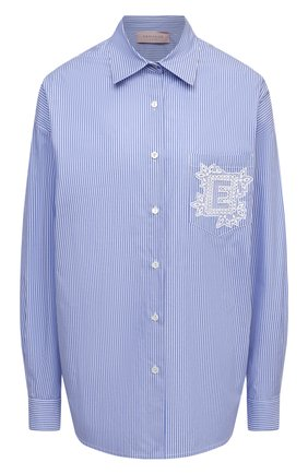 Женская хлопковая рубашка ERMANNO FIRENZE голубого цвета, арт. D38ET CM25RIG | Фото 1