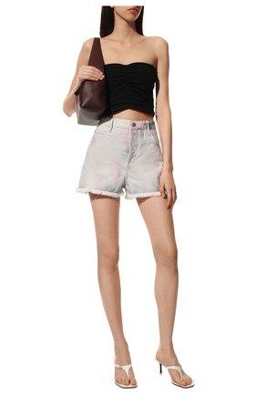 Женские джинсовые шорты ISABEL MARANT ETOILE сиреневого цвета, арт. SH0373-21P022E/LESIABB | Фото 2