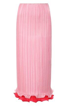 Женская плиссированная юбка VERSACE светло-розового цвета, арт. A89195/1F00732 | Фото 1