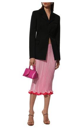 Женская плиссированная юбка VERSACE светло-розового цвета, арт. A89195/1F00732 | Фото 2