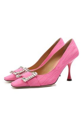 Женские текстильные туфли sr twenty SERGIO ROSSI розового цвета, арт. A92861-MTE304 | Фото 1