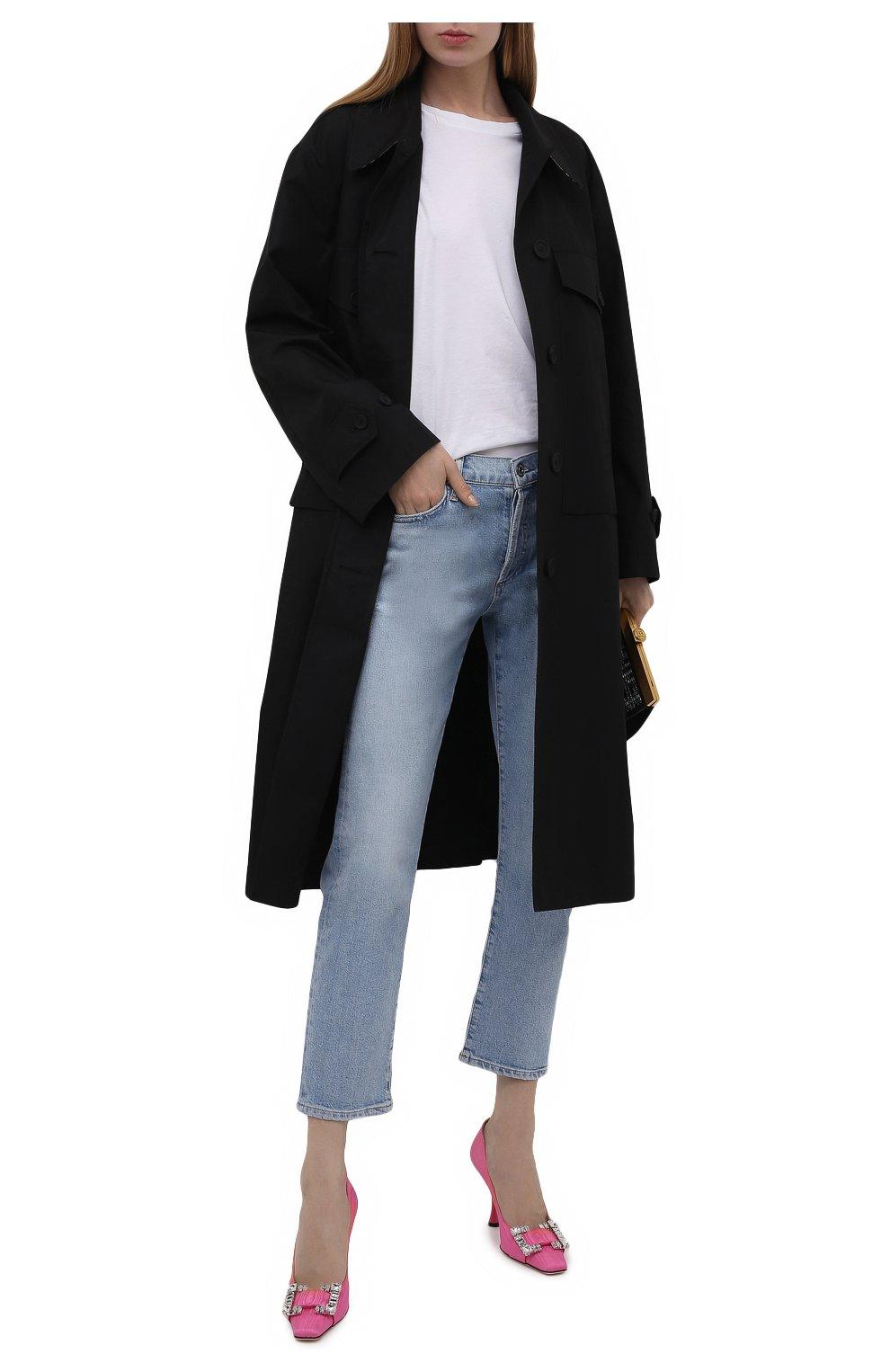 Женские текстильные туфли sr twenty SERGIO ROSSI розового цвета, арт. A92861-MTE304 | Фото 2