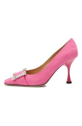Женские текстильные туфли sr twenty SERGIO ROSSI розового цвета, арт. A92861-MTE304 | Фото 3