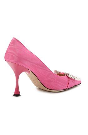 Женские текстильные туфли sr twenty SERGIO ROSSI розового цвета, арт. A92861-MTE304 | Фото 4
