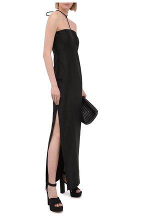Женские текстильные босоножки SERGIO ROSSI черного цвета, арт. A94250-MTE304 | Фото 2