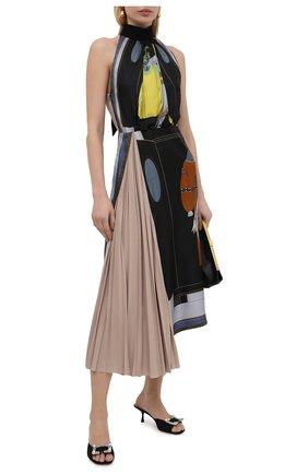 Женские текстильные мюли sr twenty SERGIO ROSSI черного цвета, арт. A94320-MTE304 | Фото 2