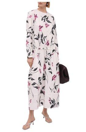 Женские кожаные мюли SERGIO ROSSI светло-серого цвета, арт. A94450-MNAN07 | Фото 2