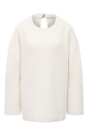 Женский шерстяной свитер BY MALENE BIRGER белого цвета, арт. Q69591005/AMICIA   Фото 1