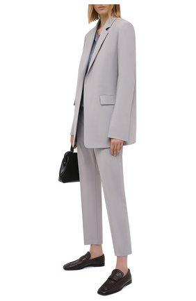 Женские шерстяные брюки JOSEPH серого цвета, арт. JP001099 | Фото 2