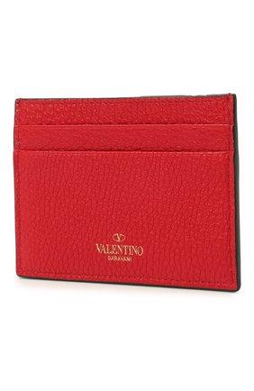 Женский кожаный футляр для кредитных карт rockstud VALENTINO красного цвета, арт. VW0P0486/VSH   Фото 2