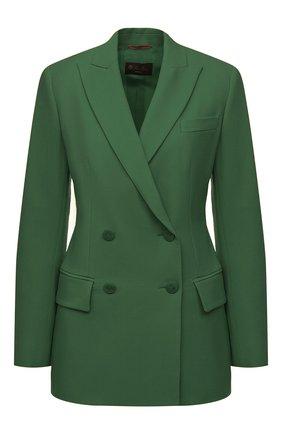 Женский шерстяной жакет LORO PIANA зеленого цвета, арт. FAL5291 | Фото 1