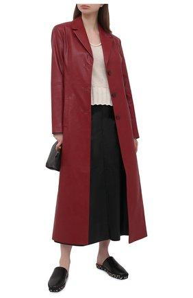 Женский хлопковый пуловер LORENA ANTONIAZZI светло-бежевого цвета, арт. P21119VM029/2545   Фото 2