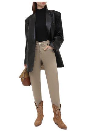 Женские джинсы LORENA ANTONIAZZI темно-бежевого цвета, арт. P2130PA019/3197 | Фото 2
