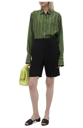 Женские кожаные мюли crystal DOLCE & GABBANA черного цвета, арт. CR1139/A0049 | Фото 2 (Материал внутренний: Натуральная кожа; Каблук тип: Устойчивый; Подошва: Плоская; Каблук высота: Низкий)
