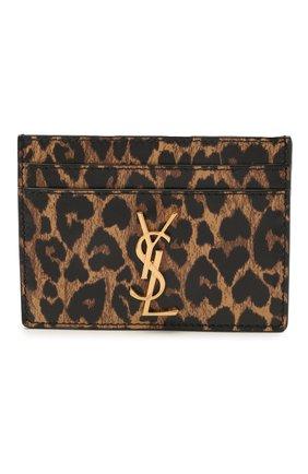Женский кожаный футляр для кредитных карт classic SAINT LAURENT леопардового цвета, арт. 370778/2QJ0J | Фото 1