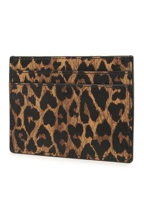 Женский кожаный футляр для кредитных карт classic SAINT LAURENT леопардового цвета, арт. 370778/2QJ0J | Фото 2