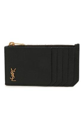 Женский кожаный футляр для кредитных карт rive gauche SAINT LAURENT черного цвета, арт. 637425/15B0W | Фото 1