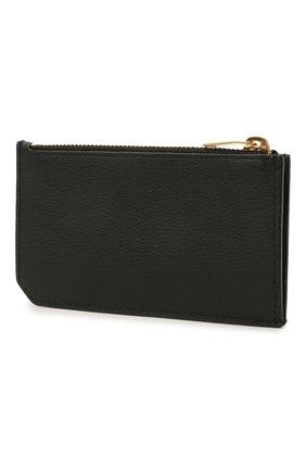 Женский кожаный футляр для кредитных карт rive gauche SAINT LAURENT черного цвета, арт. 637425/15B0W | Фото 2